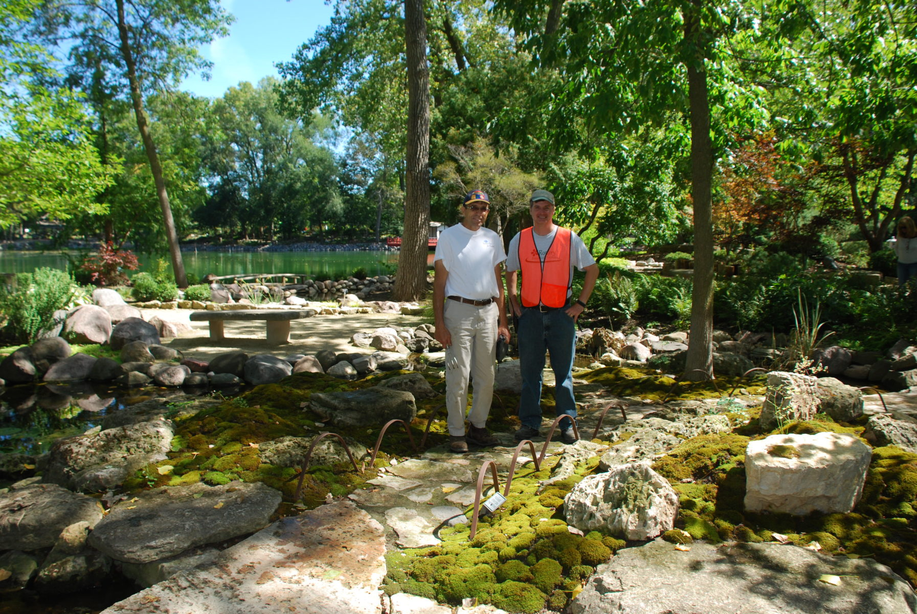 Constructing The Moss Gardens At Rotary Botanical Gardens