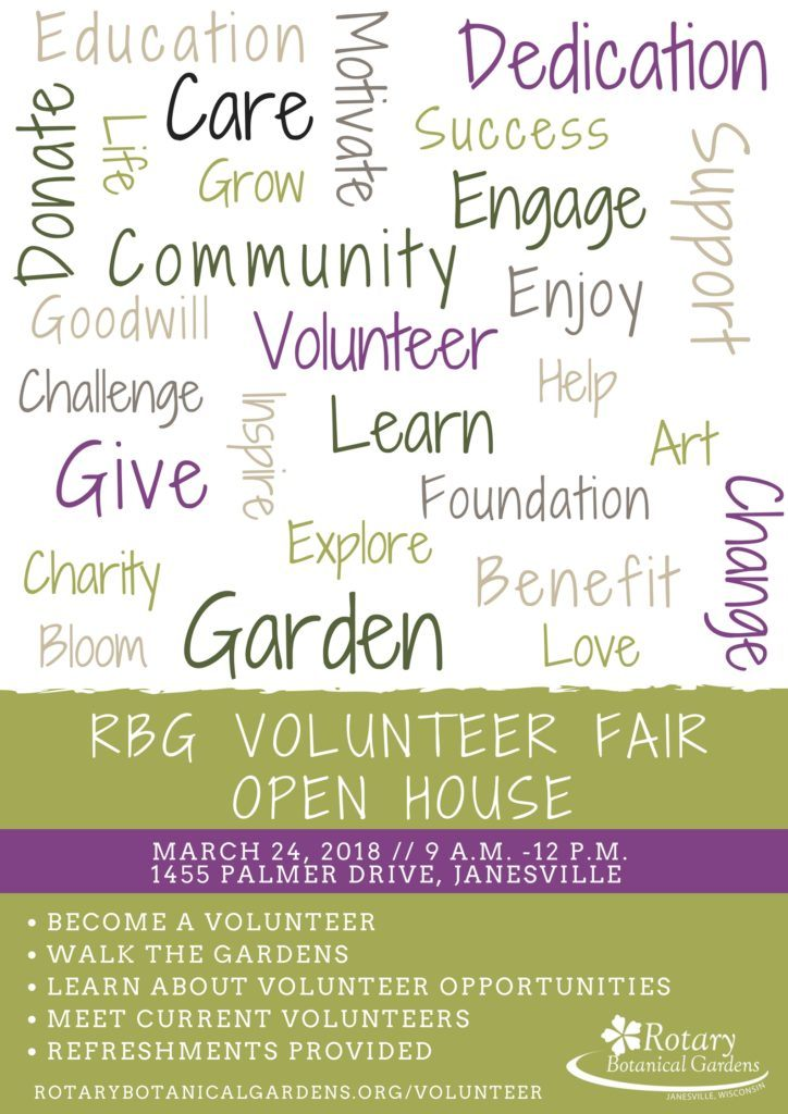 learn about the vital role volunteerism plays at rbg during this open house you can meet current volunteers and discuss where you can invest your time and - Bloom Garden Supply