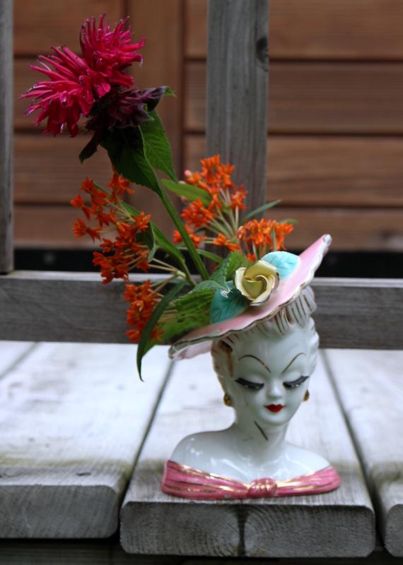 Lovely Lady Head Vases Rotary Botanical Gardens